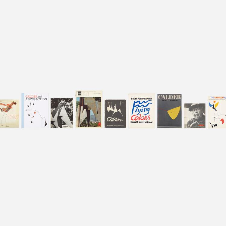 Alexander Calder, collection of eighteen books