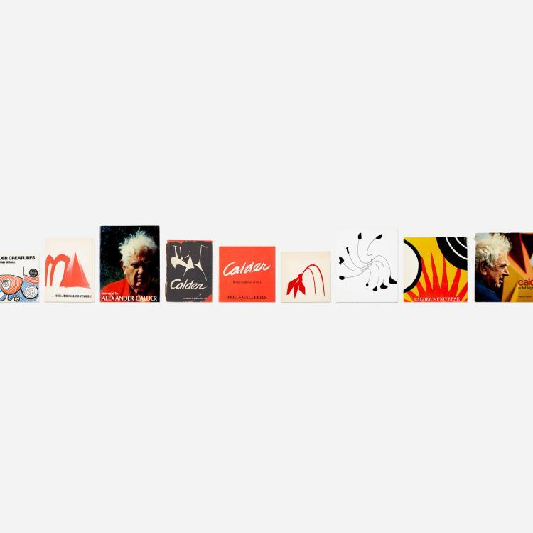 Alexander Calder, collection of sixteen books