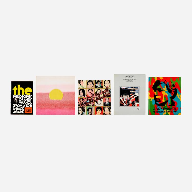 Andy Warhol, collection of five books