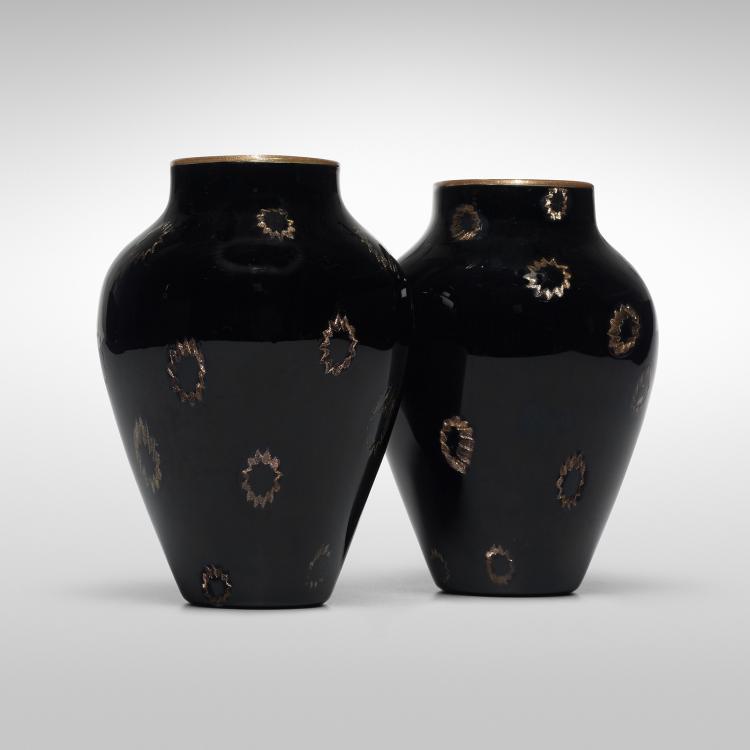 Giuseppe Barovier A Murrine vases, pair