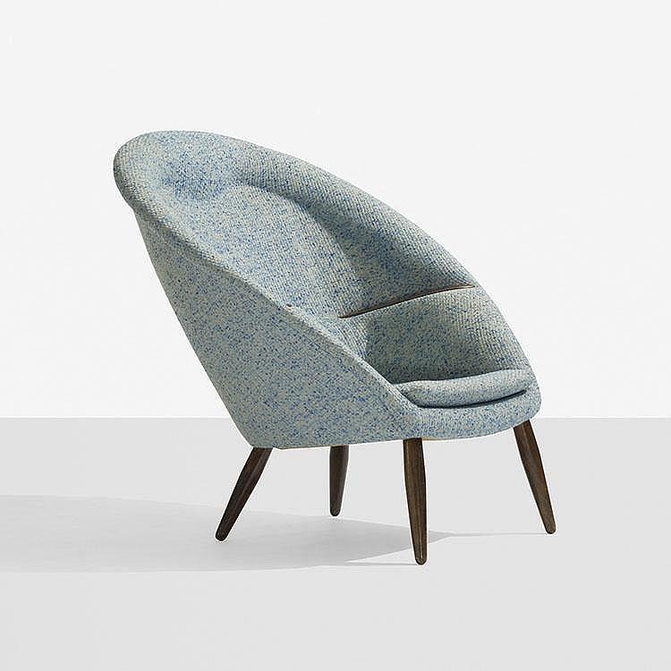 Nanna and Jørgen Ditzel rare lounge chair