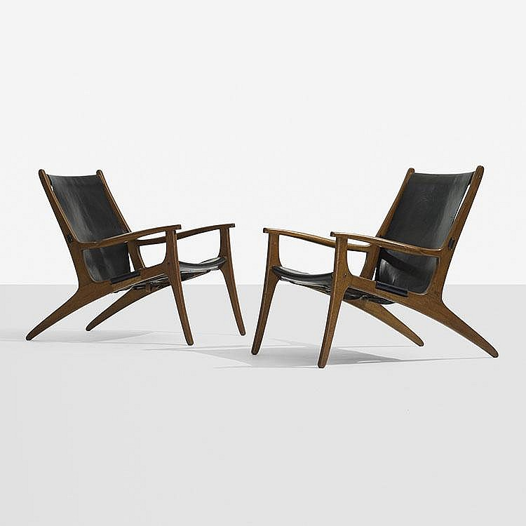 Uno and Östen Kristiansson lounge chairs, pair
