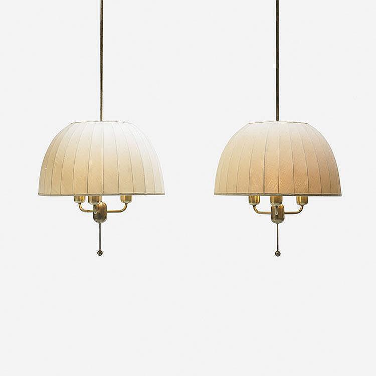 Hans-Agne Jakobsson chandeliers, pair