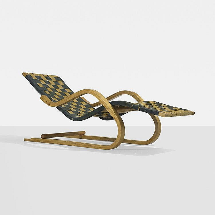 Alvar Aalto cantilevered chaise, model 39w