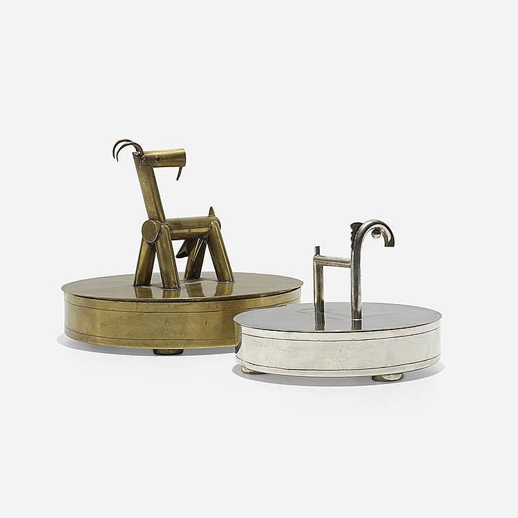 Margit Tevan lidded boxes, pair