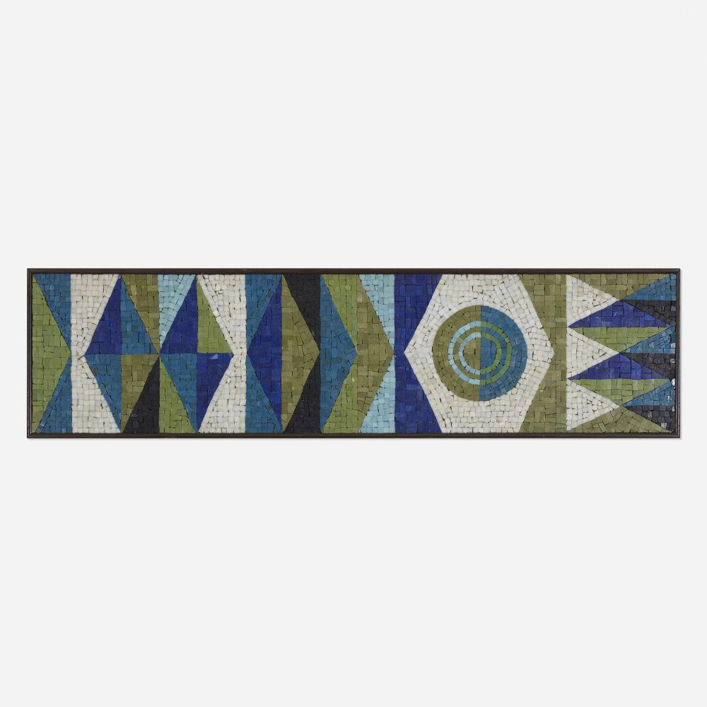 Evelyn and Jerome Ackerman, Pennants mosaic