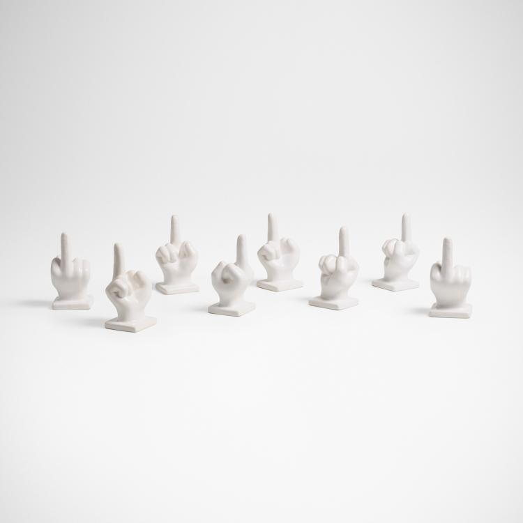Contemporary, sculptures, set of eight