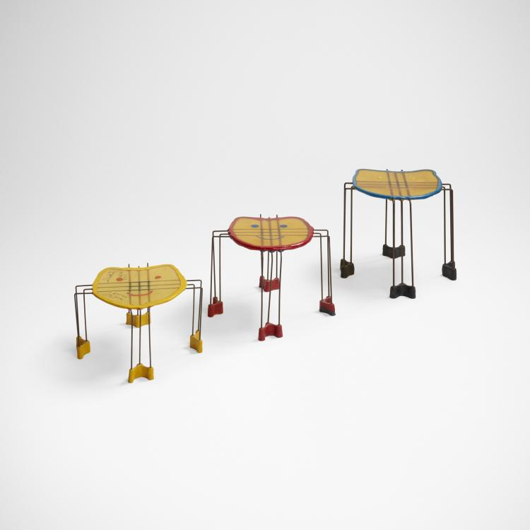 Gaetano Pesce, Triple Play nesting tables, set of three