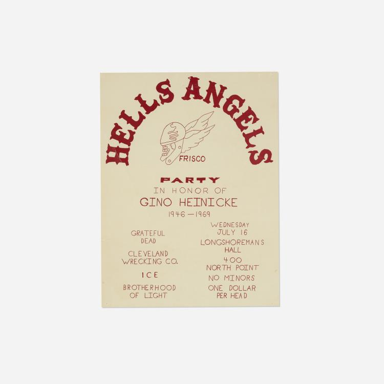 American, Grateful Dead Hells Angels Poster