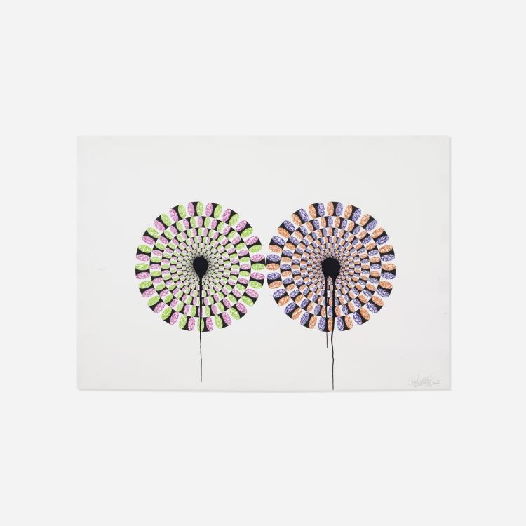 Ryan McGinness, Kaleiding Petals (Peripheral Drift Illusion)