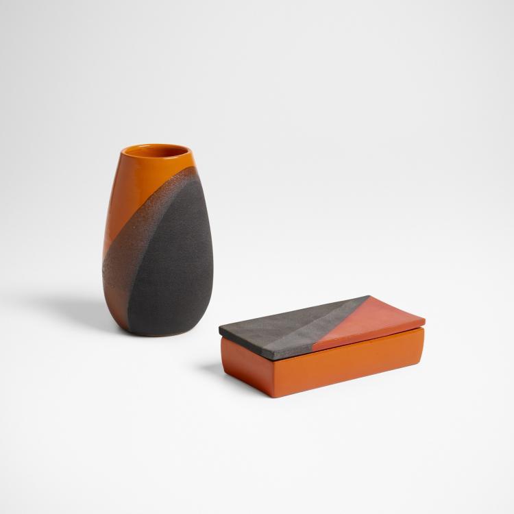 Bitossi, vase and lidded box