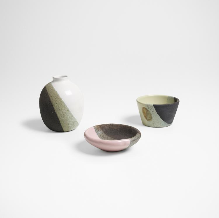 Bitossi, collection of three vessels