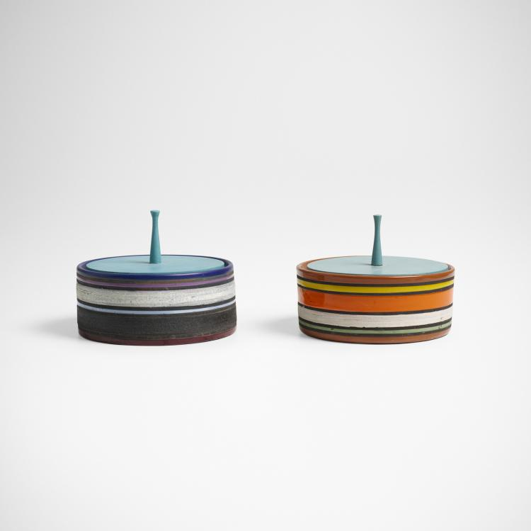 Bitossi, lidded boxes, pair