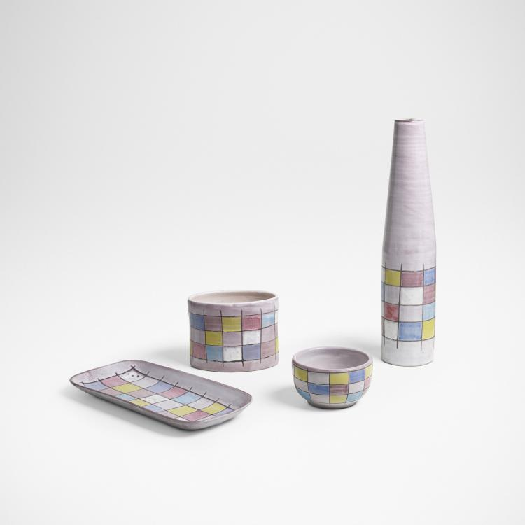 Ettore Sottsass, collection of four vessels