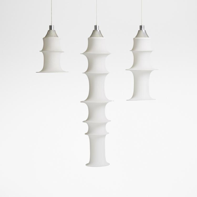 Bruno Munari, Falkland hanging light fixtures, set of three