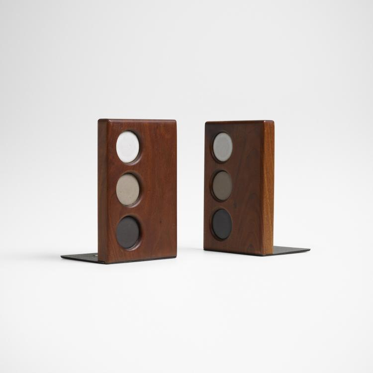 Gordon and Jane Martz, bookends, pair