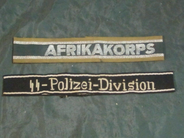 Pair of WWII German Cuff Titles