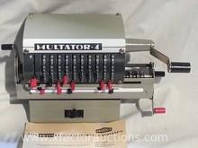 Vintage Rechenmaschine Multator- 4 manual calculator, Circa 1968