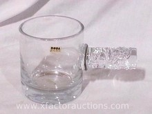 Beetil Vallie Sweden Vintage Glass with Glass Handle Beer Stein