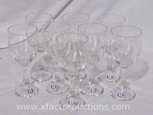 (8) Kastrup Danish Glass Wine Glasses