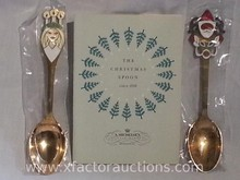 (2) A. Michelsen Sterling Silver Christmas Collector Spoons