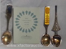 (3) A. Michelsen Sterling Silver Christmas Collector Spoons