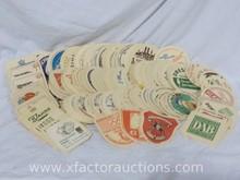 Assorted Vintage Paper German Beer/Beverage Coasters