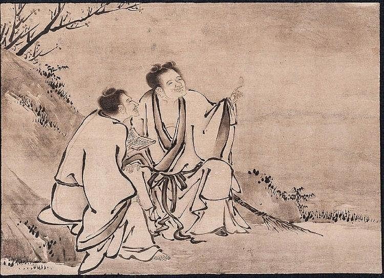 KANO EITOKU (ASSIGNED): KANZAN AND JITTOKU (HANSHAN AND SHIDE).