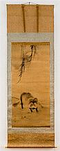 TESSAN (1775 - 1841): FULL MOON and TANUKI
