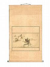 WATANABE KAZAN (1793 – 1841): MOUNTAIN LANDSCAPE WITH LAKE