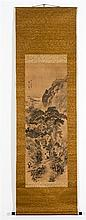 GANKU ( - 1838): MOUNTAIN LANDSCAPE WITH SCHOLARS