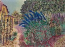 PAUL CAMENISCH (1893-1970), OIL ON CANVAS 'FLOWERING GARDEN' 1939