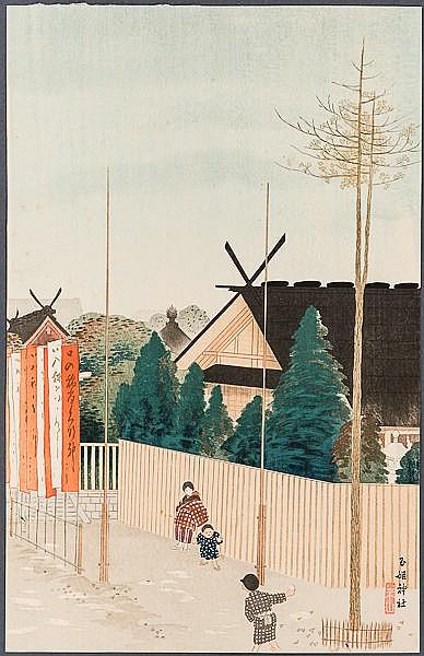 KAWATSURA YOSHIO  川面義雄 – pseudonym NEGORO RAIZAN (1880 - 1963)