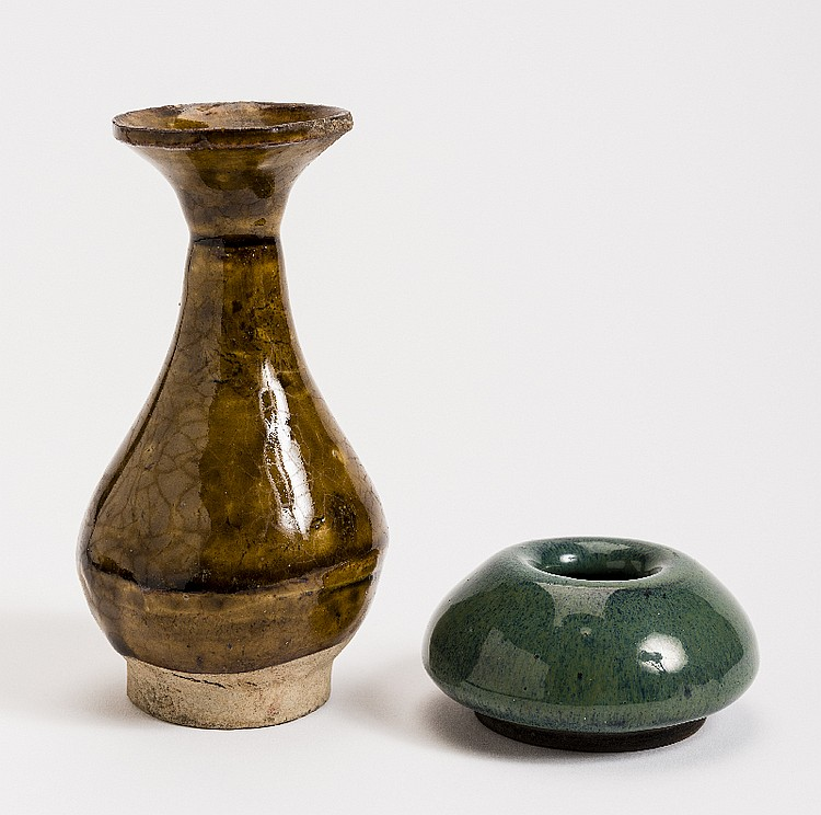 SMALL VASE AND WATER VESSEL