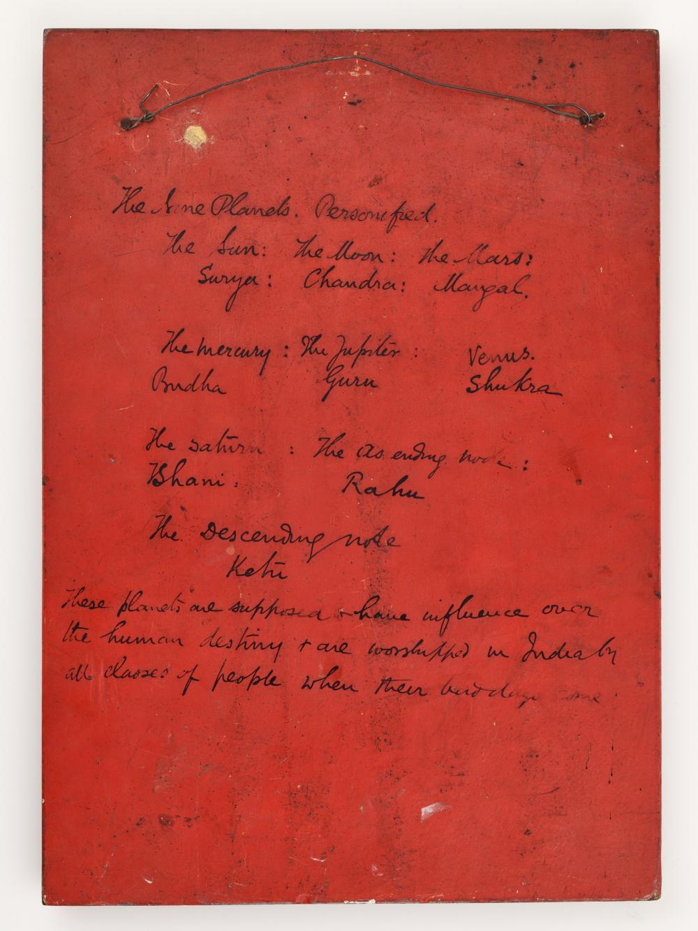 A JAIN NAVAGRAHA WOOD PANEL, 18TH-19TH