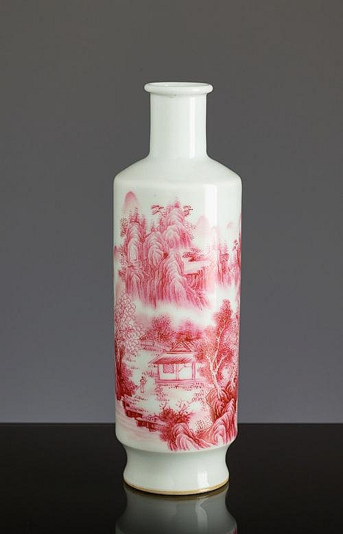 ROULEAU VASE WITH SHANSHUI