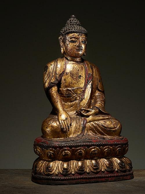 BUDDHA ON A LOTUS THRONE