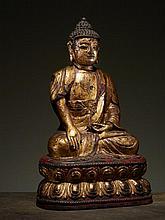BUDDHA ON A LOTUS THRONE