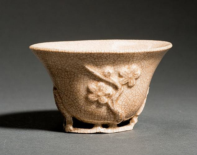 CUP WITH FLORAL RELIEF