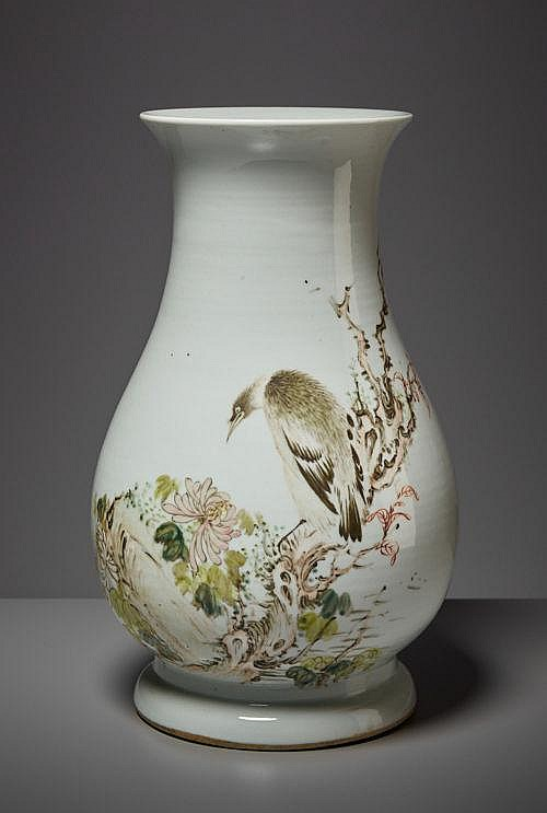 VASE WITH BIRD OF PREY