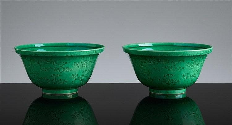 PAIR OF LITTLE CUPS WITH HEAVENLY DRAGONS