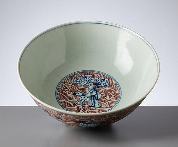 DEEP BOWL WITH THE EIGHT IMMORTALS