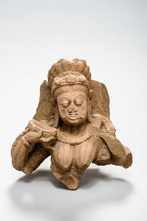 A HEAD OF THE DEITY KALI