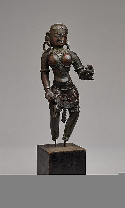 FEMALE GODDESS WITH LOTUS