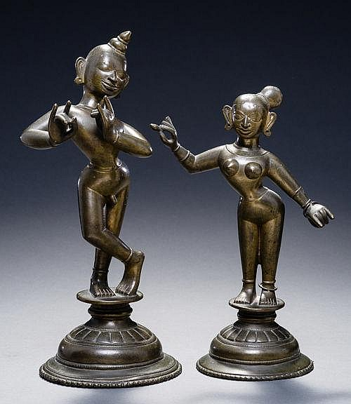 FLUTE PLAYING KRISHNA WITH LOVER