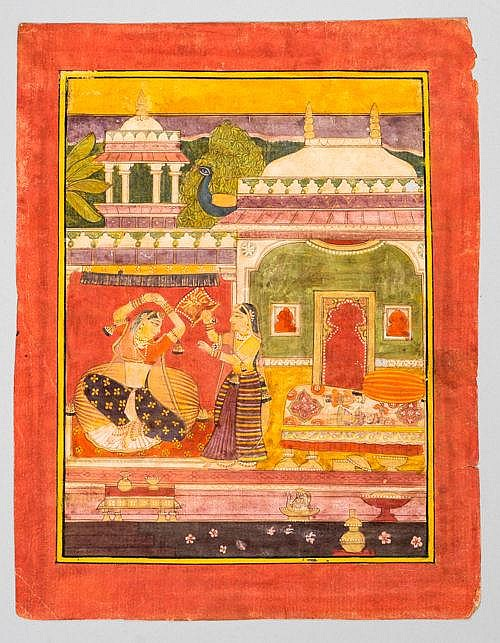 THE DESVARARI RAGINI WITH SERVANTS