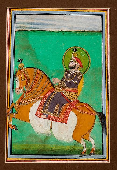 THE PRINCE SAMBHU SINGH ON HORSEBACK