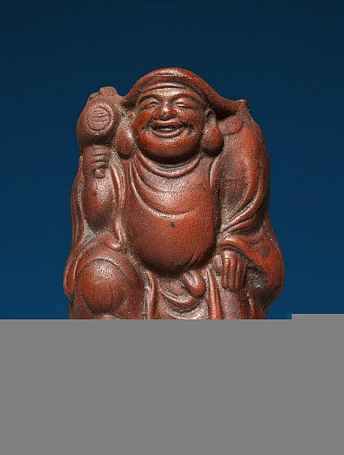 WALL VASE IN FORM OF GOD OF LUCK DAIKOKU