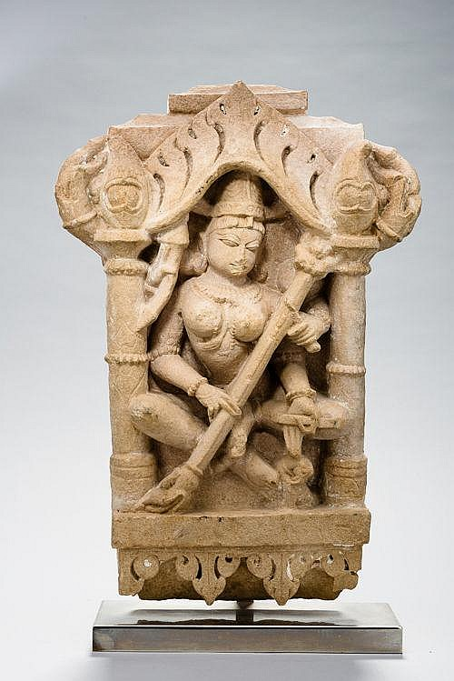THE DIVINITY SARASVATI WITH ZITHER VINYA
