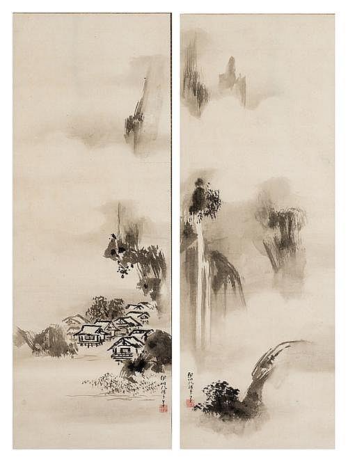 KANO ISENIN NAGANOBU (1775 - 1828): HIGH CLIFF LANDSCAPE